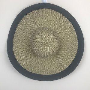 Calvin Klein Safari Gold Lurex Sun Beach Hat